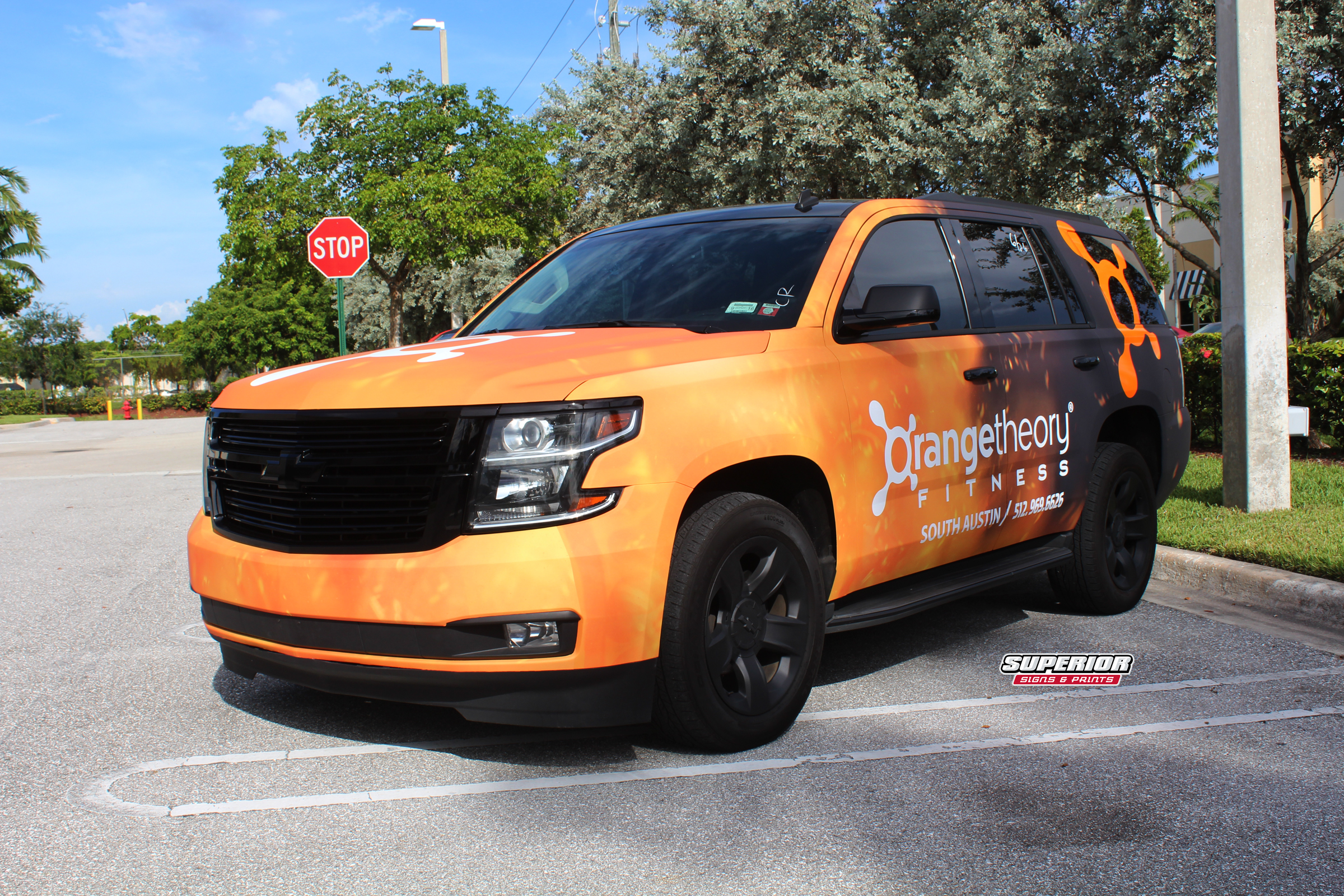 2014 Chevy Tahoe Commercial Car Wrap For Orangetheory