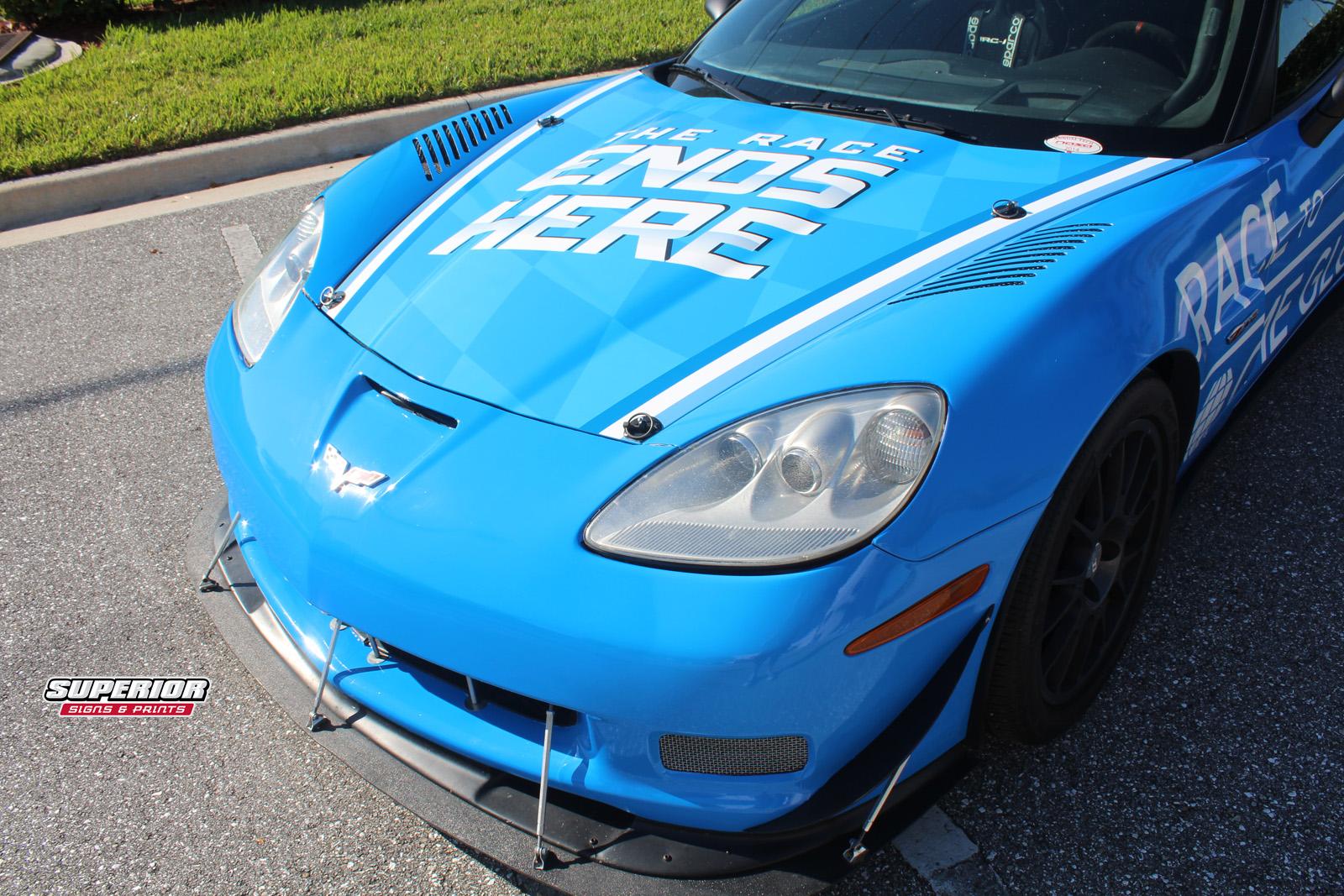 Cme Group Lpga Car Wrap Corvette Z06 Race Car Vinyl Wrap Superior