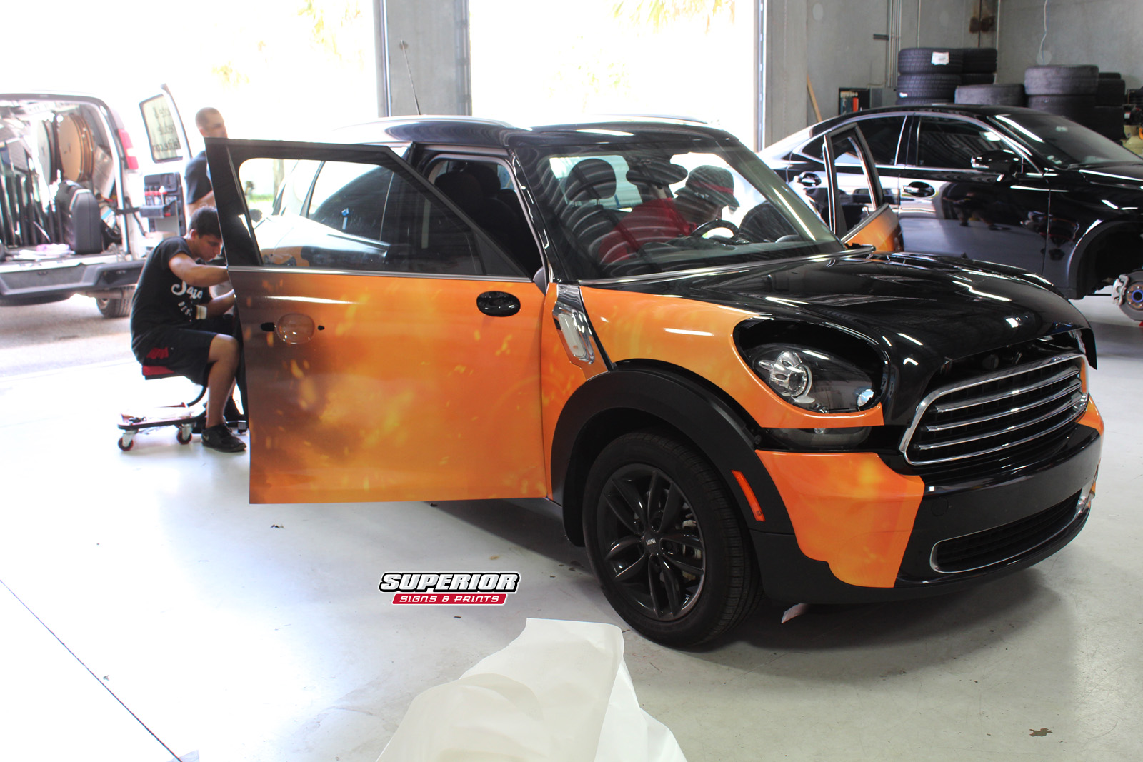 Auto Vinyl Wrap >> ORANGETHEORY FITNESS FRANCHISE OWNER MINI COOPER COMMERCIAL CAR WRAP HUNTERS CREEK AND OCALA ...