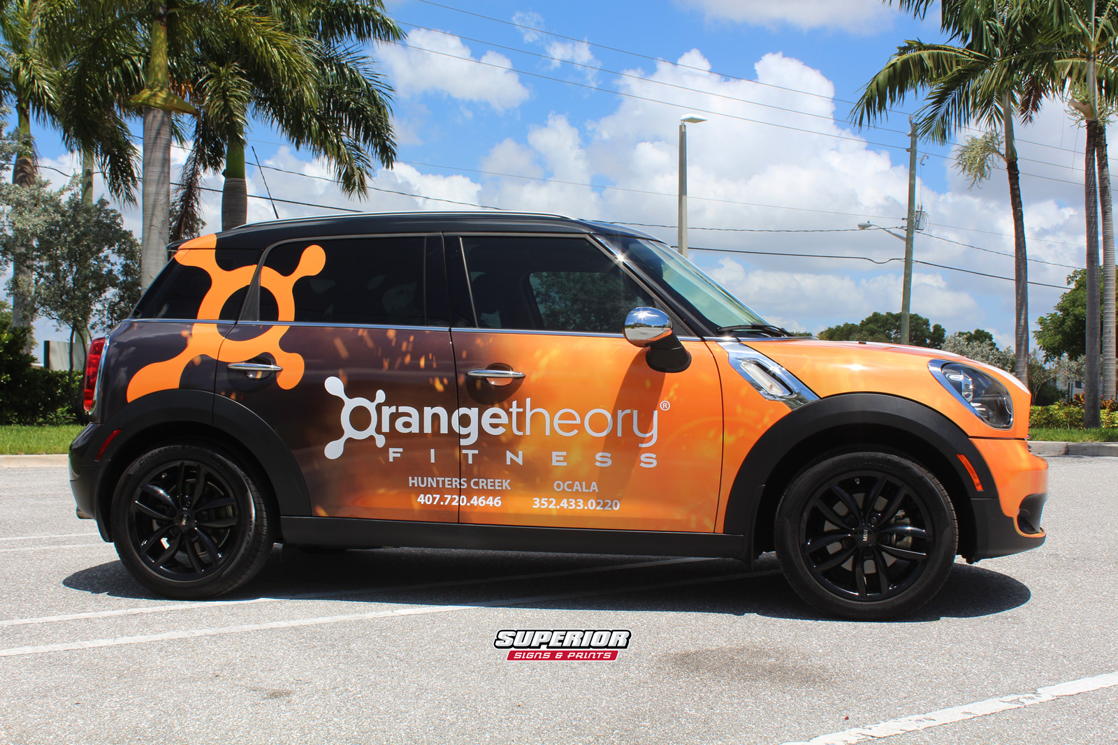 Car Wrap Vinyl >> ORANGETHEORY FITNESS FRANCHISE OWNER MINI COOPER COMMERCIAL CAR WRAP HUNTERS CREEK AND OCALA ...
